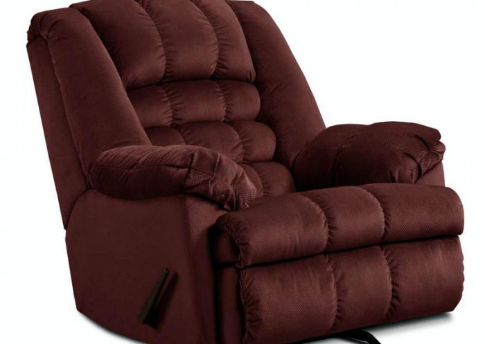 Mailbu Wine Power Rocker Recliner,Jaron's Showcase