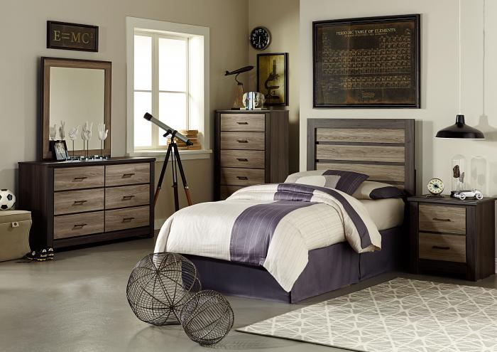 Frontier Twin Bed, Dresser and Mirror,Jaron's Showcase