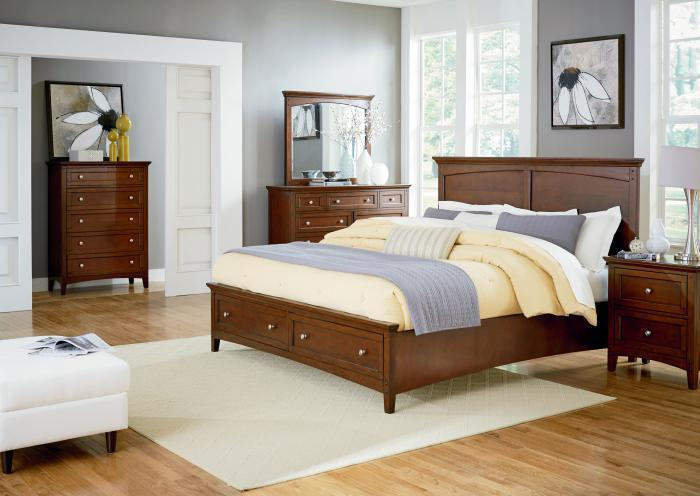 Cooper Queen Storage Bed, Dresser, Mirror, Chest and 1 Nightstand LIMITED QUANTITY,Jaron's Showcase