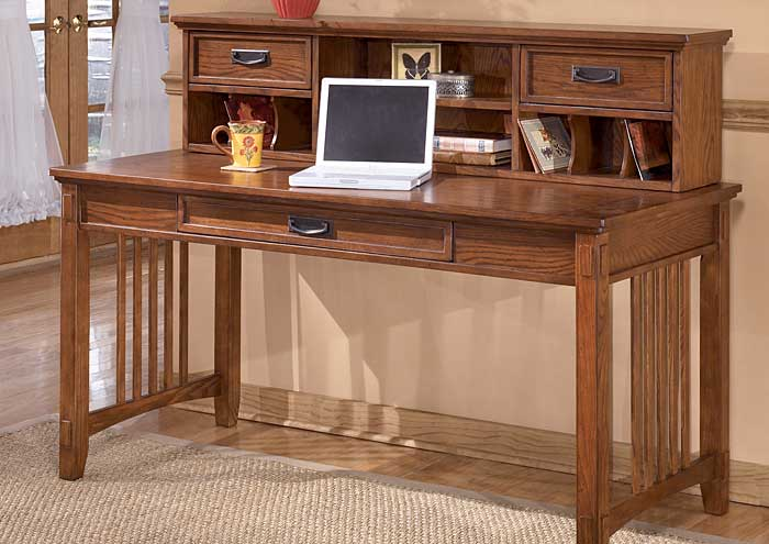 Cross Island Short Desk Hutch,Jaron's Showcase