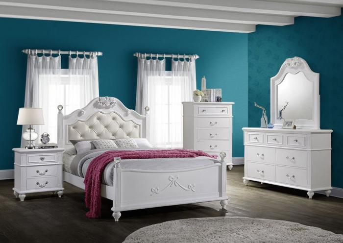 Alana Full Bed, Dresser and Mirror,Jaron's Showcase
