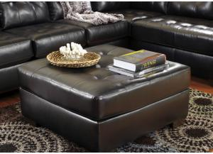 Salsa Oversized Ottoman in Chocolate