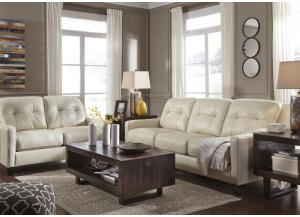 Keene Galaxy Leather Loveseat