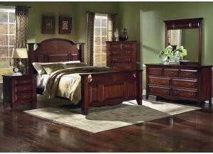 Drexel Queen Bed, Dresser, Mirror, Chest and 1 nightstand LIMITED QUANTITY