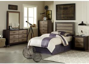 Frontier Twin Bed, Dresser and Mirror