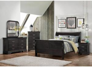 Chandler Full Sleigh Bed, Dresser, Mirror, Chest and 1 Nightstand