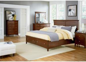 Cooper Queen Storage Bed, Dresser, Mirror, Chest and 1 Nightstand LIMITED QUANTITY