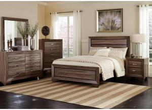 Brook King Panel Bed, Dresser, Mirror, Chest and 1 Nightstand