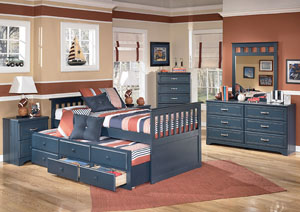 Summer Breeze Twin Trundle Bed