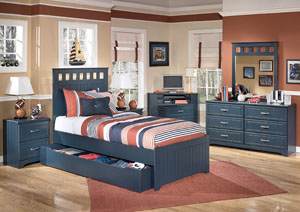Summer Breeze Twin Panel Bed w/ Storage