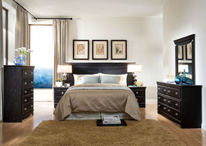 Carlsbad Queen/Full Headboard, Dresser, Mirror and One Nightstand