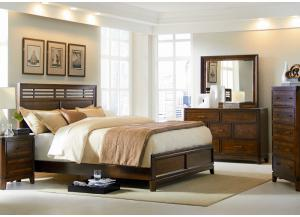 Arista Dresser, Mirror and King Bed