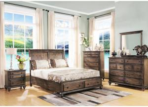 Fallbrook Queen Sleigh Bed, Dresser, Mirror, Chest and 1 Nightstand LIMITED QUANTITY