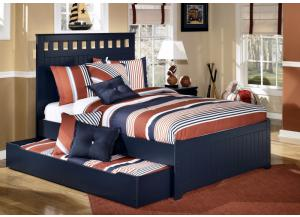 Summer Breeze Full Panel Bed w/Trundle