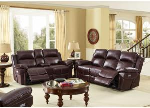 Warner POWER Reclining Loveseat