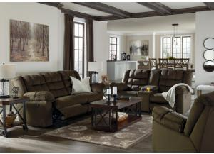 Cole Umber Reclining Loveseat