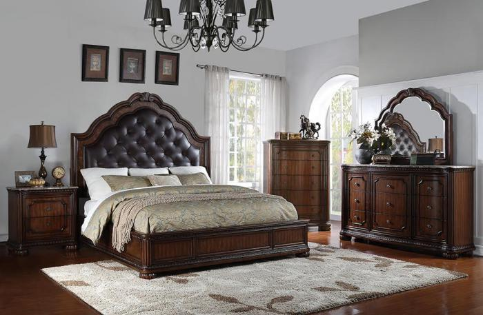 BD581 QUEEN BED  DRESSER  MIRROR  1 NIGHT STAND. Find Elegant and Affordable Living Room Furniture in Bensalem  PA