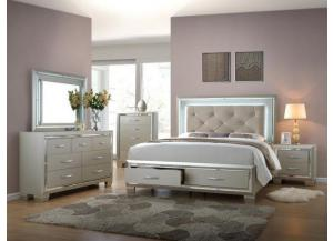 LT100 QUEEN BED, DRESSER & MIRROR