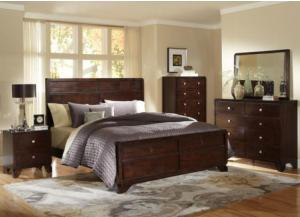 B2180 Queen panel bed, Dresser, mirror, chest, 1 Night stand