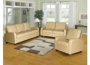 A030 SOFA, LOVESEAT, FREE CHAIR