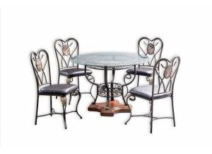 D150 TABLE, 4 CHAIRS