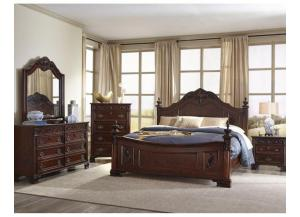 B0185 Queen Bed, Dresser, Mirror, & 1 Night stand