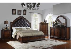 BD581 QUEEN BED, DRESSER, MIRROR, 1 NIGHT STAND