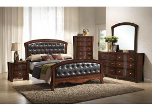 JN100 QUEEN BED, DRESSER, MIRROR, CHEST, 1 NIGHT STAND