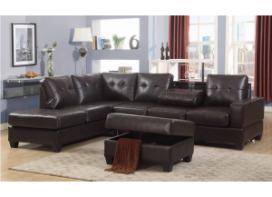 2 Pc Sectional w/ Drop Tray FREE Storge Ottman