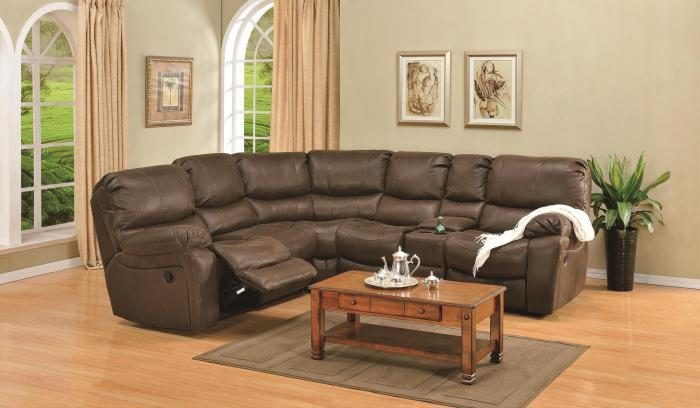 Ramsey Rodeo Brown Modular Reclining Sectional,Porter International Designs