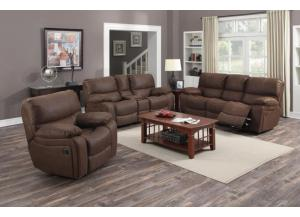 Ramsey Rodeo Brown Reclining Sofa, Loveseat, Console Loveseat & Glider Recliner,Porter International Designs