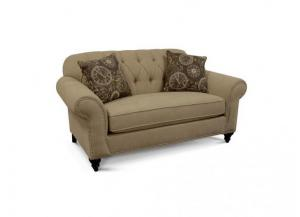Stacy Loveseat (Customizable Body and Pillow Fabrics)