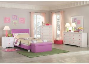 Savannah Collection Lavender Twin/Full Platform Bed