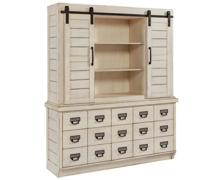 Magnolia Home Archive Hutch & Buffet in Antique White,Magnolia Home by Joanna Gaines