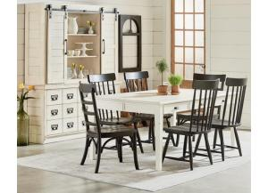 Magnolia Home Farmhouse Keeping Dining Table & 6 Spindle Back Chairs