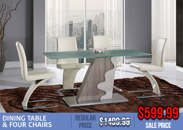 Dining Table and 4 Chairs Sale
