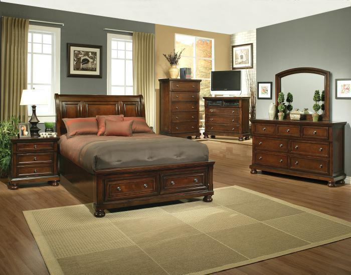 Concord Queen Storage Bed, Dresser, Mirror, Nightstand,Lifestyle Distribution