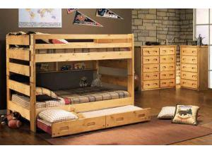 Big Sky Cinamon Full/Full Bunkbed