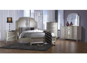 Regency Park Queen Bed W/ Dresser, Mirror, and Nightstand