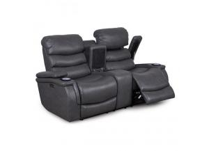 Larue Prospect Graphite Reclining Loveseat Wtih Power Headrest