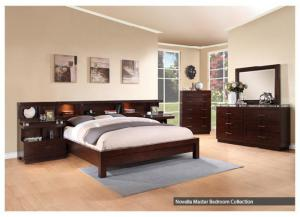Novella King Platform bed wall