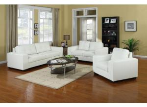 Pisa Pellissima White Sofa & Loveseat