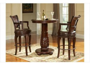 Antoinette Pub table and 2 swivel barstools