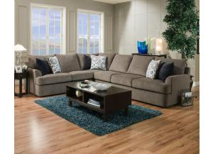 Grandstand Flannel / Bergdof Midnight / Sancho Pacific 2-Piece Sectional