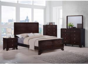 Akiva Queen Bed, Dresser, Mirror, Nightstand