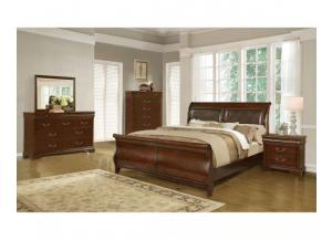 Kenneth Cherry King Sleigh Bed