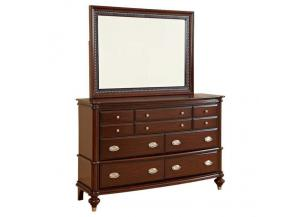 Dundee Place Brushed Dresser & Mirror