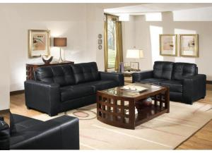 Pisa Pellissima Black Loveseat