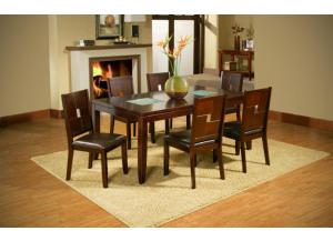 Lakeport Extension Espresso Dining Table and 4 chairs