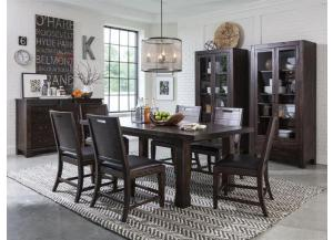 Pine Hill Dining Table with 6 chairs